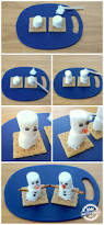make a marshmallow snowman kids activity blog