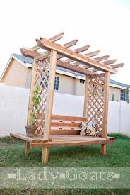 Plans For A Wooden Bench by Ana White Outdoor Bench With Arbor Diy Projects