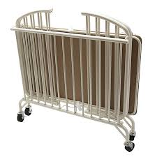 Portable Crib Mattress L A Baby Folding Arched Compact Folding Portable Crib With