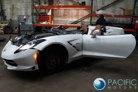 corvette wing rear wing spoiler arctic white 22967764 chevrolet corvette