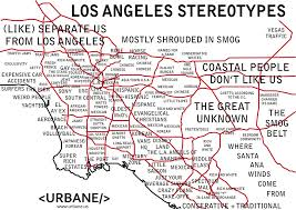 los angeles suburbs map map outlines every negative stereotype about l a neighborhoods laist