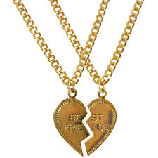 best friend gold necklace images Dollydagger gold best friends charm necklace set dollydagger jpg
