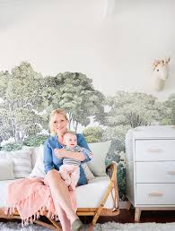 a baby u0027s blush and green nursery emily henderson