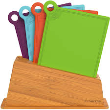 kitchen set of 4 reversible cutting boards w food icons bpa