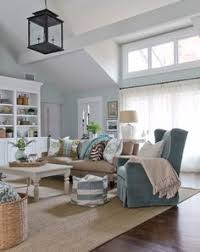 Sandy Beige And Blue Living Room Httpwwwbeachblissdesigns - Coastal living family rooms
