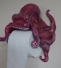 Animal Toilet Paper Holder Octopus Toilet Paper Holder Functional Artwork