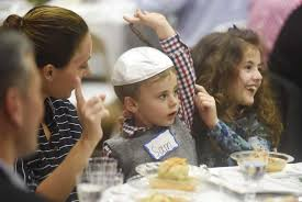 seder for children temple sholom celebrates passover with seder meal greenwichtime