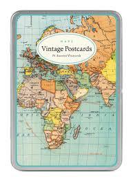 Vintage World Map by Vintage World Maps Carte Postale Postcards Amazon Co Uk