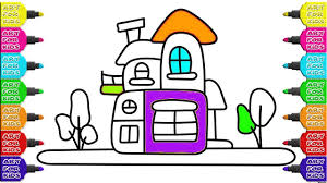 little house for gnomes how to draw coloring for kids youtube