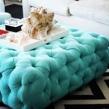Light Blue Tufted Ottoman Stylish Blue Tufted Ottoman Interiorvues
