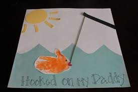 fish card for kids dad birthday craft or father u0027s day handmade