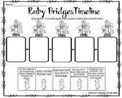 ruby bridges timeline cut and paste freebie i am pleased to offer