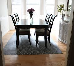 what size rug under dining table dining room rug on carpet dining room decor ideas and showcase design