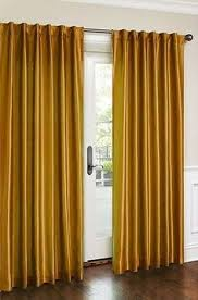 Orange Panel Curtains Faux Silk Stripe Lined Curtain Panel 42 In W X 84 In L By