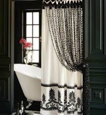 White And Black Shower Curtains Beaded Shower Curtains Foter
