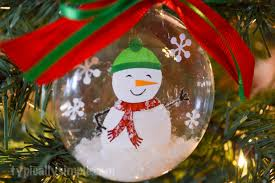 snow globe ornament typically simple