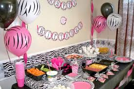 Birthday Home Decoration Formidable Pink And Black Birthday Party Decorations Marvelous