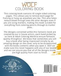 amazon wolf coloring book coloring book 40