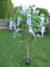 Tree With Purple Flowers Uk Gardens Large 5ft Wisteria Artificial Tree With Purple Lilac
