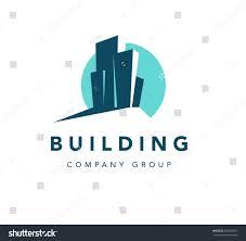 bureau company vector flat construction company brand design เวกเตอร สต อก