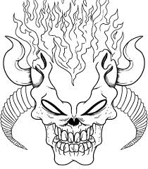 terrific flaming skull