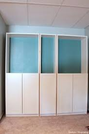 ikea bookcase with doors diy built ins from ikea bookcases orc week 2 vertical storage