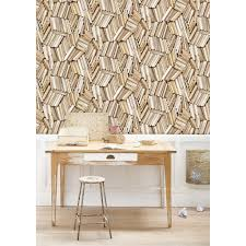 chaotic ivory bookcase wallpaper the literary gift company