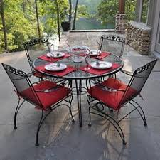 Wrought Iron Patio Furniture by Spray Painted Wrought Iron Patio Furniture Using Rustoleum Satin