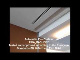 Automatic Fire Curtain Tria Bach Fire Automatic Fire Curtain Youtube