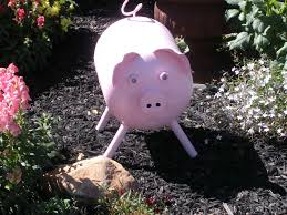 pig made from empty freon tank yard my husband made