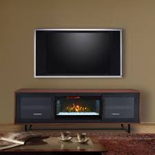 Infrared Electric Fireplaces by Emerson Infrared Electric Fireplace Entertainment Center In Walnut