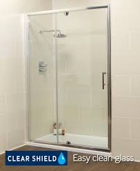 Shower Door 720mm Kyra Range 1100 Pivot Inline Shower Enclosure