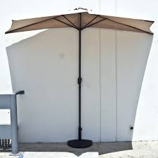 Large Tilting Patio Umbrella by Furniture Beige Patio Umbrella Ft In And White Stripe With Tilt