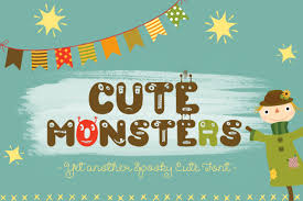 cute monsters halloween font u2013 limited promotion by anastasia