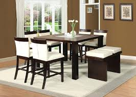 counter height dining table with bench glass top counter height dining sets modern counter height dining