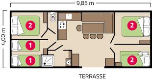 mobil home 4 chambres mobil home génération 4 chambres c atlantique