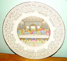 lord s supper plates crooksville the supper collectible plate china replacements