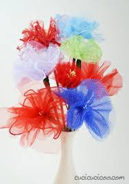 tulle flowers tulle flower bouquet family crafts