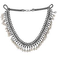 necklace silver online images Buy designer necklaces pearl beads studded trendy oxidised jpg