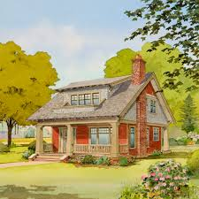 Cottage Bungalow House Plans by The Fox Tail Bungalow Company