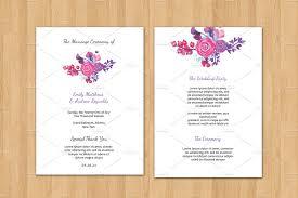 Fan Program Wedding Fan Program Template Invitation Templates Creative Market