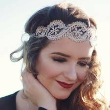 tie headbands grey lace tie headbands of