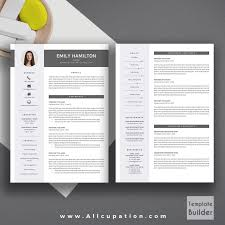 creative resume template modern cv word cover letter format on ma