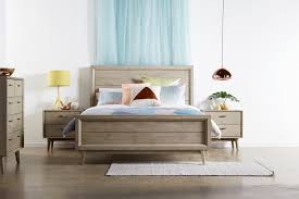 Timber Bedroom Furniture by Celeste Bed Suite Retro Styling With A European Twist Acacia