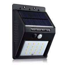 16 led outdoor solar powered light pir motion sensor lamp for