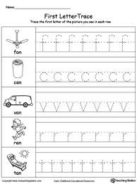 lowercase letter tracing an words letter tracing word families