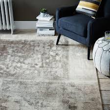 distressed rococo wool rug platinum west elm