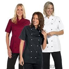 vetement cuisine femme veste de cuisine femme manches courtes cintrée poche sur la manche