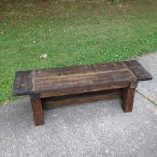 Dog Crate Furniture Bench Pine Main Rustic Furniture Locally Made