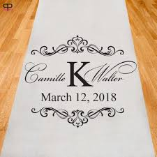personalized wedding aisle runner personalized wedding aisle runner ppd2929 2518073 weddbook